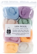 "Soft Pastels - Wool Roving 12"" .25oz 8/Pkg"