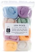 "Soft Pastels - Wool Roving 12"" .25oz 8/Pkg"