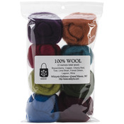 "The Bouquet - Wool Roving 12"" .25oz 8/Pkg"
