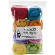 "Confetti - Wool Roving 12"" .25oz 8/Pkg"