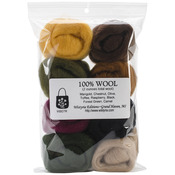 "Falling Leaves - Wool Roving 12"" .25oz 8/Pkg"