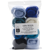 "The Sea - Wool Roving 12"" .25oz 8/Pkg"