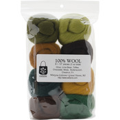 "Woodsy - Wool Roving 12"" .25oz 8/Pkg"