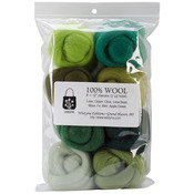"Jungle - Wool Roving 12"" .25oz 8/Pkg"