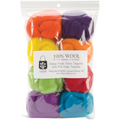 """Fiesta - Wool Roving 12"""" .25oz 8/Pkg"""