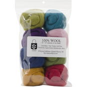 "Designer - Wool Roving 12"" .25oz 8/Pkg"