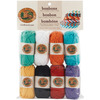 Beach - Bonbons Yarn 8/Pkg LION BRAND YARN-Bonbons. These miniature skeins of yarn are perfect for any project requiring multiple colors such as amigurumi, colorwork, embroidery, and embellishments. Each package contains eight miniature skeins of yarn. Available in a variety of color sets (each sold separately). Weight category: 3. Content: 100% acrylic, 0.35oz/10g, 28yd/26m. Knitting gauge: 21st x 29r = 4in/10cm on US6/4mm needles. Crochet gauge: 16sc x 20r = 4in/ 10cm with I/9/5.5mm hook. Care: Machine washable and dryable, do not bleach, do not iron, may be dry cleaned. Imported.