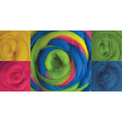 "Beach Ball - Wool Roving 12"" 1.25oz"