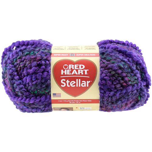 Red Heart Stellar Yarn Deep Space 073650849442