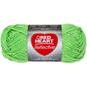 Neon Green - Red Heart Reflective Yarn