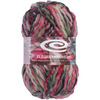 Blackberry - Cuties Yarn ELEGANT YARNS-Cuties Yarn. This beautiful yarn features a slubby texture and its bulky weight means it works up quickly. Weight category: Bulky. Content: 50% wool, 50% acrylic. Put-up: 3.5oz/100g, 88yd/80m. Knitting Gauge: 13st x 10r = 4in/10cm on US-13/9mm needles. Care: Hand wash, lay flat to dry, do not bleach, do not iron. Dyelotted--we try but cannot guarantee matching dyelots. Imported.
