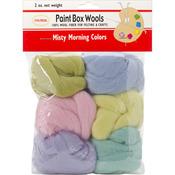 Misty Morning -Pk/Blu/Grn/Seafm/Yel/Lav - Paint Box Wools .33oz 6/Pkg
