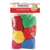 Fruits & Berries -Rd/Grn/Yel/Rd/Pk/Bl - Paint Box Wools .33oz 6/Pkg