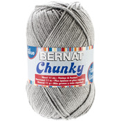 Grey Heather - Chunky Big Ball Yarn - Solids