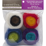 Multicolor - Feltworks Roving Rolls 2oz 4/Pkg