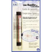 "LoRan Line Magnifier W/Sliding Markers .875""X6.5""-"