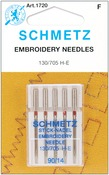 Size 14/90 5/Pkg - Embroidery Machine Needles