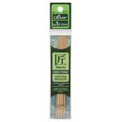 "Takumi Bamboo Double Point Knitting Needles 5"" - Size 1/2.25mm"