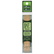 "Takumi Bamboo Double Point Knitting Needles 5"" - Size 5/3.75mm"