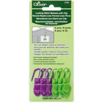 6/Pkg - Locking Stitch Markers With Clip 6/Pkg