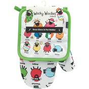 Wacky Woollies Oven Glove & Pot Holder Set-