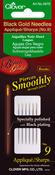Size 9 6/Pkg - Black Gold Applique/Sharps Needles