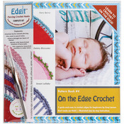 Edgit Piercing Crochet Book, Hook & Burp Cloth Kit