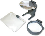 3-In-1 LED Lighted Hands - Free Hobby Magnifier-