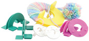 "Makes 4 Sizes 1.25"", 1.75"", 2.25"" & 3.5"" - Easy Wrap Pom-Pom Maker"