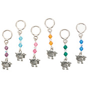Six Assorted Styles - Sheep Stitch Markers