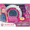 Singer Knitting Machine- NKOK-Singer Knitting Machine. Perfect for beginner knitters! Knit cool fashion accessories like hats, scarves, socks and leg warmers! This package contains one knitting machine, two skins of yarn, one knitting hook, one knitting needle and instructions. Recommended for ages 8 and up. WARNING: Choking Hazard-small parts. Not for children under 3 years. Conforms to ASTM F963. Imported.