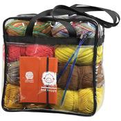 "Knit Happy Clear Tote 12""X12""X6"""