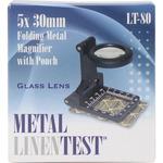Metal Linen Test Folding Metal Magnifier W/Pouch-
