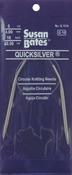 "Size 11/8mm - Quicksilver Circular Knitting Needle 29"""