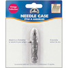 Metal Needle Case- DMC-A vintage style brushed pewter tool that will make a classic, timeless statement for years to come! Carded to be hung for accessability and features the DMC logo. Value and quality you come to expect from DMC. A handy way to store needles when stitching. Needle case features a ring for attaching to a chatelaine or to secure to a project. Attractive brushed pewter finish with vintage styling. Color: Metal.