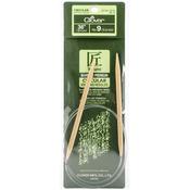 "Size 9/5.5mm - Takumi Bamboo Circular Knitting Needles 36"""