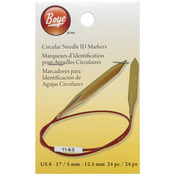 Sizes 8-17 - Circular Needle Markers Large 24/Pkg