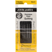 Size 8 4/Pkg - Stainless Steel Quilting Needles
