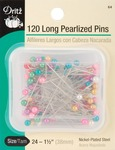 Size 24 120/Pkg - Long Pearlized Pins