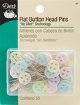 50/Pkg - Flat Button Head Pins
