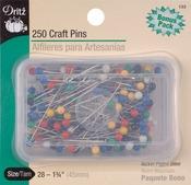 Size 28 250/Pkg - Craft Pins