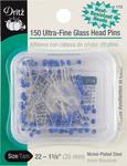 Size 22 150/Pkg - Ultra-Fine Glass Head Pins