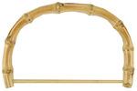 "Natural - Bamboo Bag Handle 7"" Half Round W/Rod"