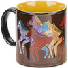 Native Horses - Laurel Burch Artistic Mug Collection Laurel Burch-Artistic Mug Collection. Laurel Burch is an internationally known artist and designer with an instantly recognizable palette and style. Enjoy vivid and vibrantly colored mugs from her collections! This package contains one 14oz mug. Comes in a variety of designs. Each sold separately. WARNING: this product may contain a chemical known to the state of California to cause cancer, birth defects or other reproductive harm. Microwave and dishwasher safe. Imported.