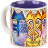 Tribal - Laurel Burch Artistic Mug Collection Laurel Burch-Artistic Mug Collection. Laurel Burch is an internationally known artist and designer with an instantly recognizable palette and style. Enjoy vivid and vibrantly colored mugs from her collections! This package contains one 14oz mug. Comes in a variety of designs. Each sold separately. WARNING: this product may contain a chemical known to the state of California to cause cancer, birth defects or other reproductive harm. Microwave and dishwasher safe. Imported.
