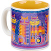 Rainbow Cat Cousins - Laurel Burch Artistic Mug Collection Laurel Burch-Artistic Mug Collection. Laurel Burch is an internationally known artist and designer with an instantly recognizable palette and style. Enjoy vivid and vibrantly colored mugs from her collections! This package contains one 14oz mug. Comes in a variety of designs. Each sold separately. WARNING: this product may contain a chemical known to the state of California to cause cancer, birth defects or other reproductive harm. Microwave and dishwasher safe. Imported.