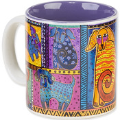 Dog Tails Patchwork - Laurel Burch Artistic Mug Collection
