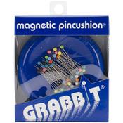 Blue - Grabbit Magnetic Pincushion W/50 Pins