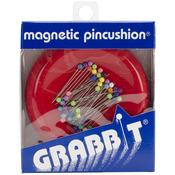 Red - Grabbit Magnetic Pincushion W/50 Pins