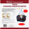 26 inches  - Mesh Hanging Sweater Dryer INNOVATIVE HOME CREATIONS-Mesh Hanging Sweater Dryer. This sweater dryer opens to twenty-six inches in diameter and keeps the natural shape of the sweater. It is easy to hang from any pole or rod. It is flexible and folds easily for storage. This dryer allows air to dry both sides of a sweater at the same time. This 10x10 inch package contains one mesh hanging sweater dryer. Imported.